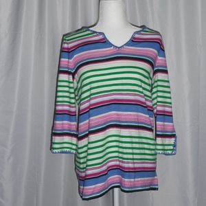 Talbots Multi-Color Blouse NWT